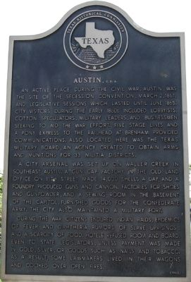 Austin, C.S.A. Marker image. Click for full size.