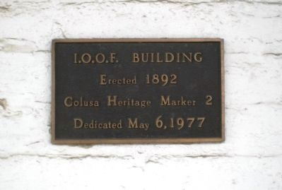 I.O.O.F Building Marker image. Click for full size.