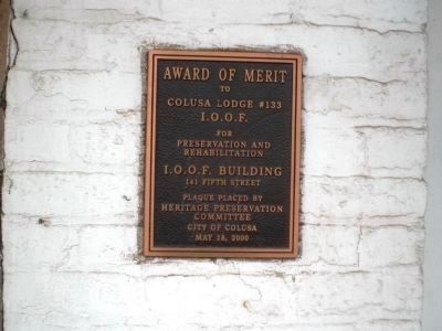 I.O.O.F Building - Marker of Merit image. Click for full size.