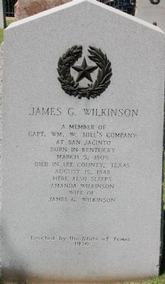 James G. Wilkinson Marker image. Click for full size.