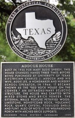 Addcox House Marker image. Click for full size.