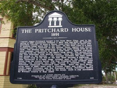 The Pritchard House 1891 Marker image. Click for full size.