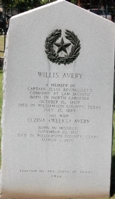 Willis Avery Marker image. Click for full size.