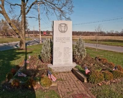 Veterans Memorial near the Broad Dyke Marker image. Click for full size.