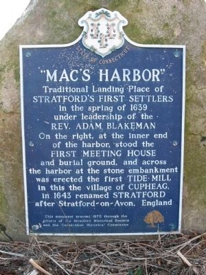 """Mac's Harbor"" Marker image. Click for full size."