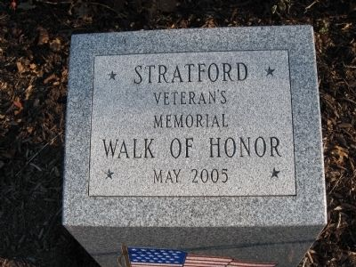 Stratford Veteran's Memorial Walk of Honor Marker image. Click for full size.