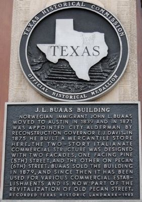 J. L. Buaas Building Marker image. Click for full size.