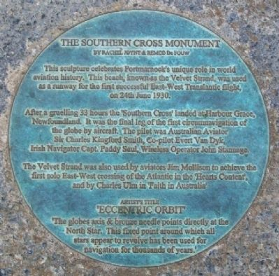 The Southern Cross Monument Marker image. Click for full size.
