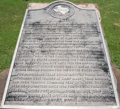 Camp Mabry Marker image. Click for full size.