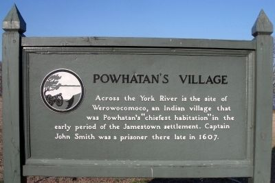 Powhatan's Village Marker image. Click for full size.