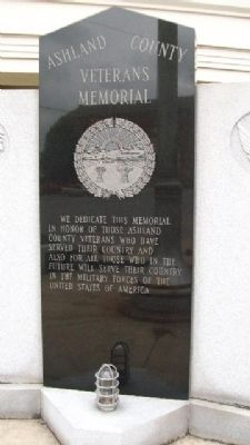 Ashland County Veterans Memorial image. Click for full size.