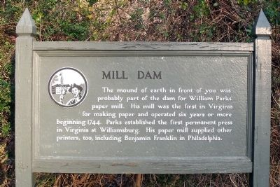 Mill Dam Marker image. Click for full size.