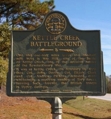 Kettle Creek Battleground Marker image. Click for full size.