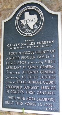 Judge Calvin Maples Cureton Marker image. Click for full size.