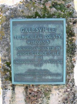 Galesville Marker image. Click for full size.