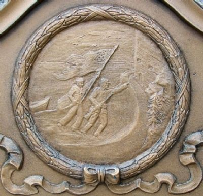Ashland County Soldiers and Sailors Memorial Marker Detail image. Click for full size.