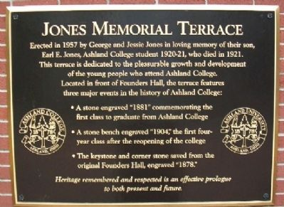 Jones Memorial Terrace Marker image. Click for full size.