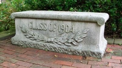 Class of 1904 Bench on Jones Memorial Terrace image. Click for full size.