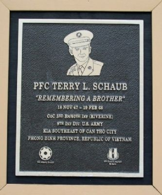 PFC Terry L. Schaub Marker image. Click for full size.