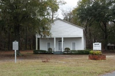 Harmony Baptist Church and Marker image. Click for full size.