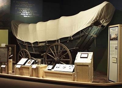 Conestoga Wagon Display at: Virginia (Richmond) Historical Society image. Click for full size.