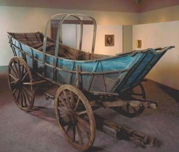 Wood Structure of a Conestoga Wagon image. Click for full size.