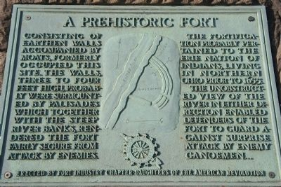 A Prehistoric Fort Marker image. Click for full size.