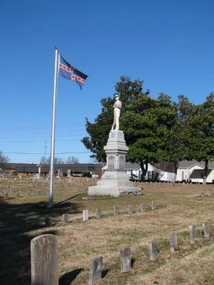 Confederate Cemetery Statue image. Click for full size.