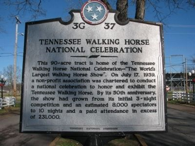 Tennessee Walking Horse National Celebration Marker image. Click for full size.