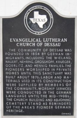 Evangelical Lutheran Church of Dessau Marker image. Click for full size.