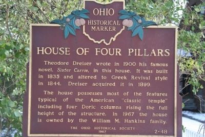 House of Four Pillars Marker image. Click for full size.