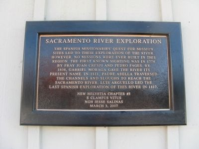 Sacramento River Exploration Marker image. Click for full size.