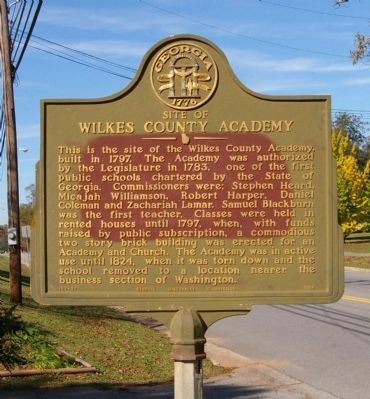 Site of Wilkes County Academy Marker image. Click for full size.