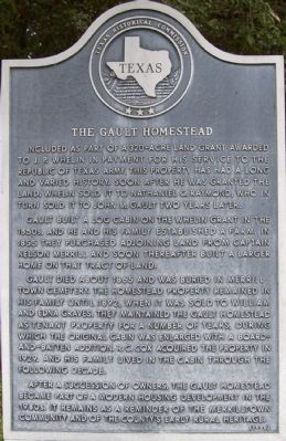 The Gault Homestead Marker image. Click for full size.