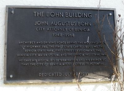 The Bohn Building Marker image. Click for full size.
