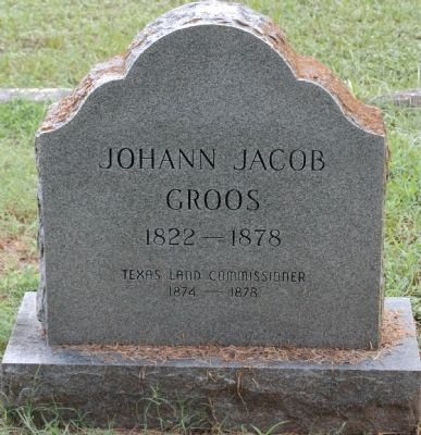 Johann Jacob Groos Gravestone image. Click for full size.