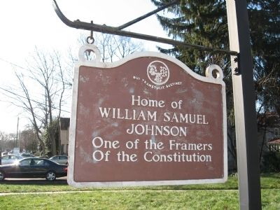 Home of William Samuel Johnson Marker image. Click for full size.