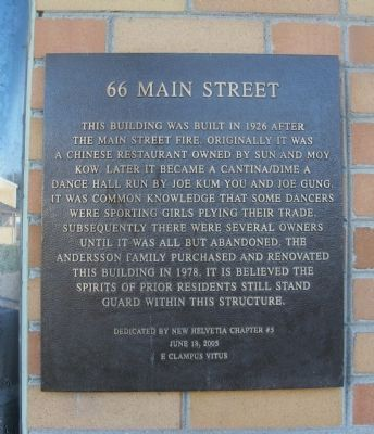 66 Main Street Marker image. Click for full size.
