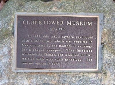 Clocktower Museum Marker image. Click for full size.