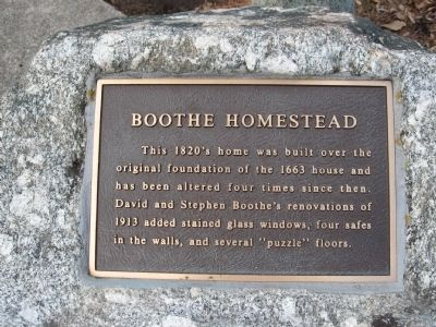Boothe Homestead Marker image. Click for full size.
