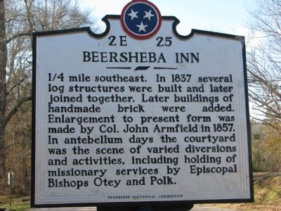 Beersheba Inn Marker image. Click for full size.