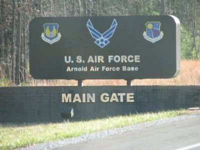 Main Gate at Arnold Engineering Development Center image. Click for full size.