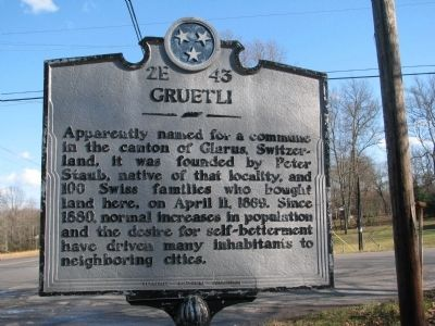 Gruetli Marker image. Click for full size.