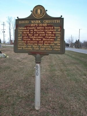 DAVID WARK GRIFFITH Marker image. Click for full size.