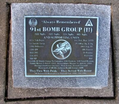 91st Bomb Group (H) Marker image. Click for full size.
