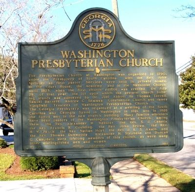 Washington Presbyterian Church Marker image. Click for full size.