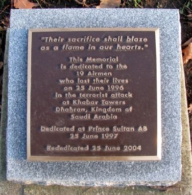 Khobar Towers Memorial Marker image. Click for full size.
