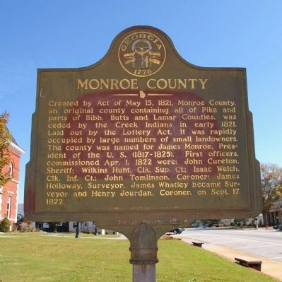 Monroe County Marker image. Click for full size.