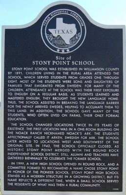 Site of Stony Point School Marker image. Click for full size.