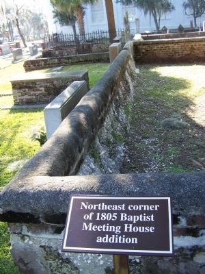 Site of the Old Baptist Meeting House northeast corner image. Click for full size.